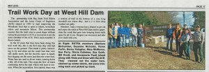May 2015Uxbridge Times West Hill Dam Trail Work Day Article