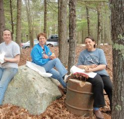 Rachel Grant, Barbara McCumber and Valerie Clark at lunch time.